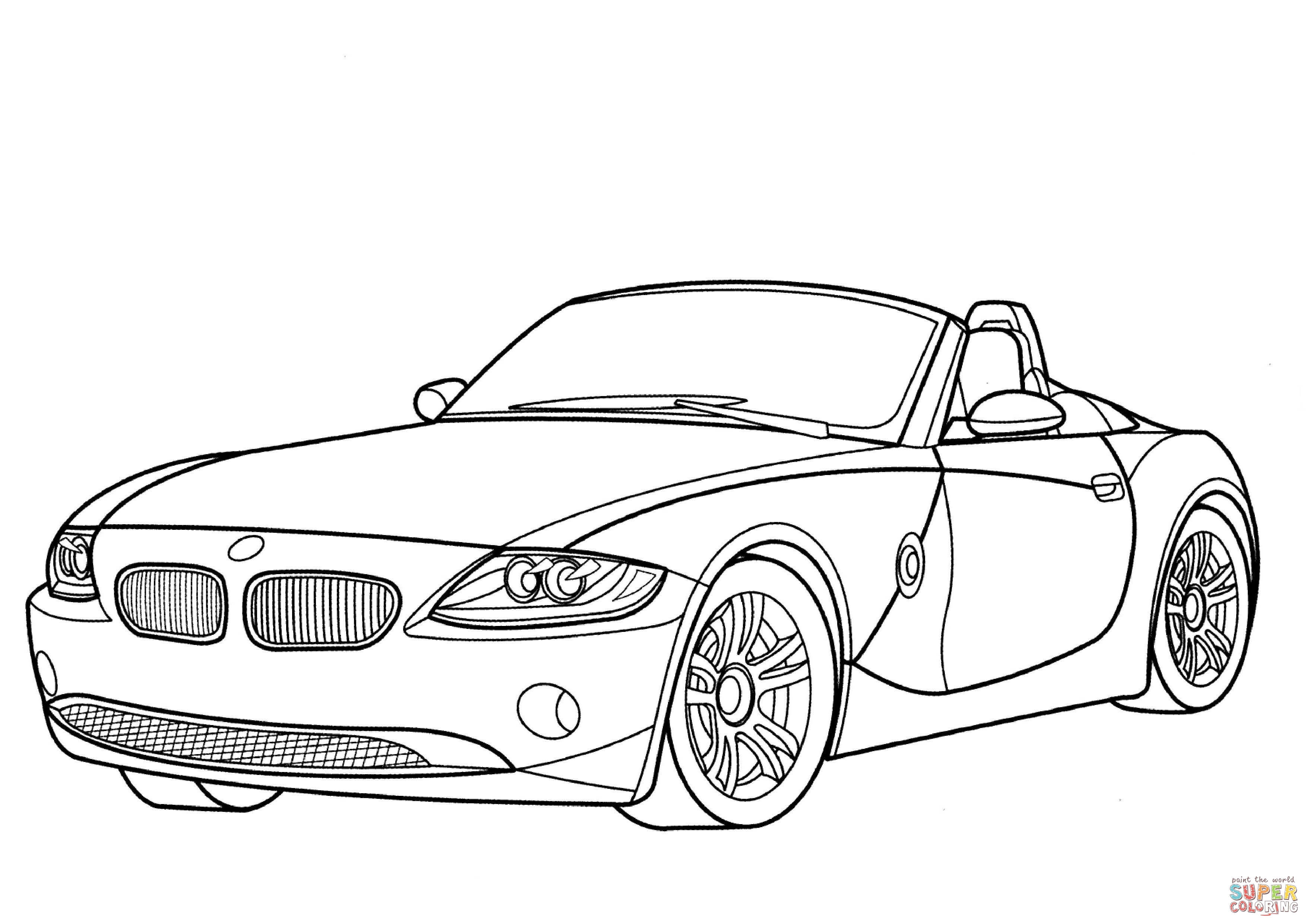 Bmw Z4 Cabriolet Kleurplaat