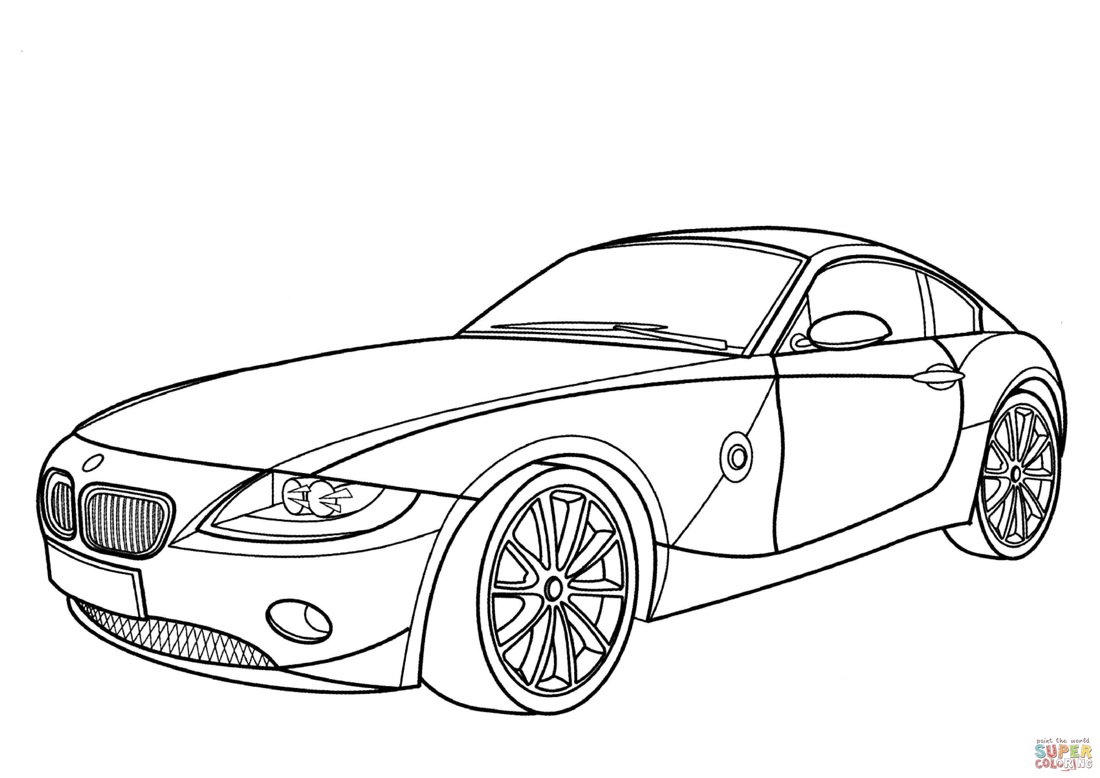 Bmw Z4 Coupe Coloring Page