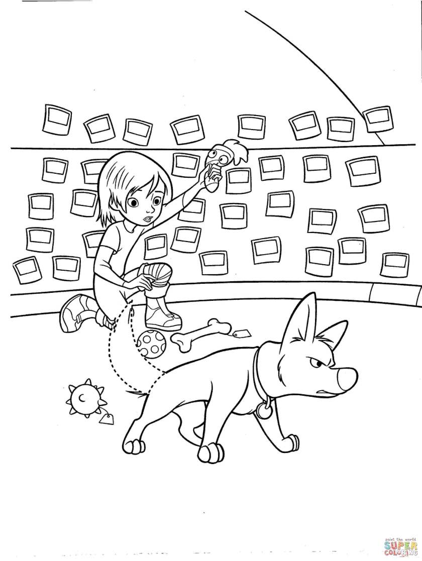 bolt is always ready to help penny coloring page  free