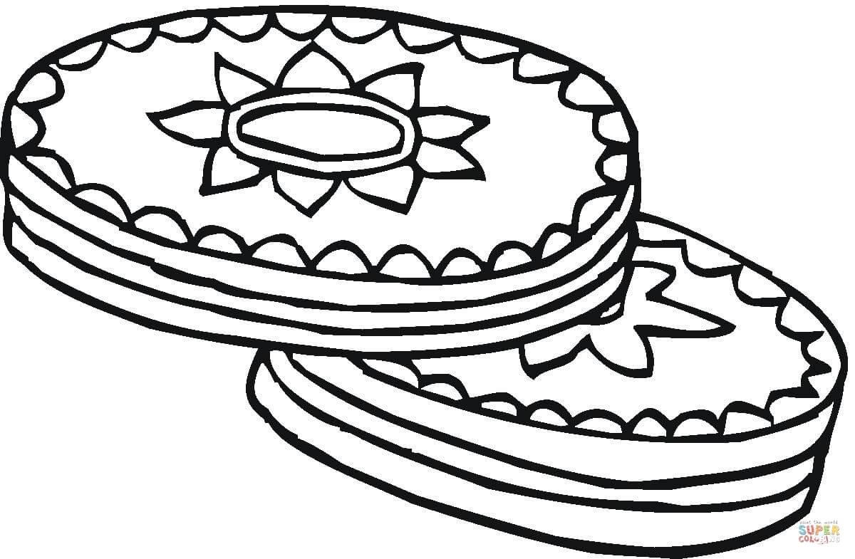 Desenho De Biscoitos Com Cobertura De Chocolate Para