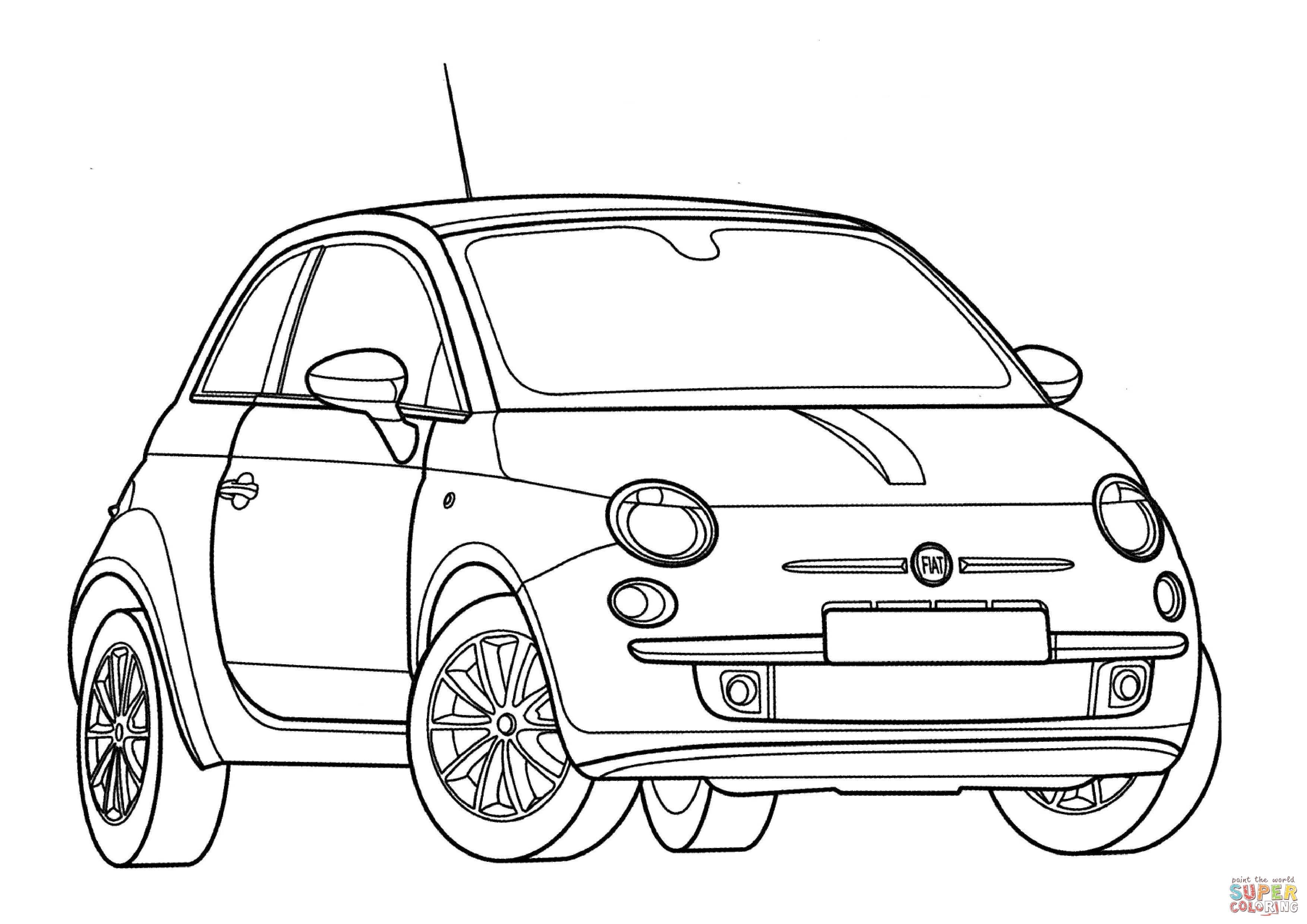 Disegno Di Fiat Cinquecento Da Colorare