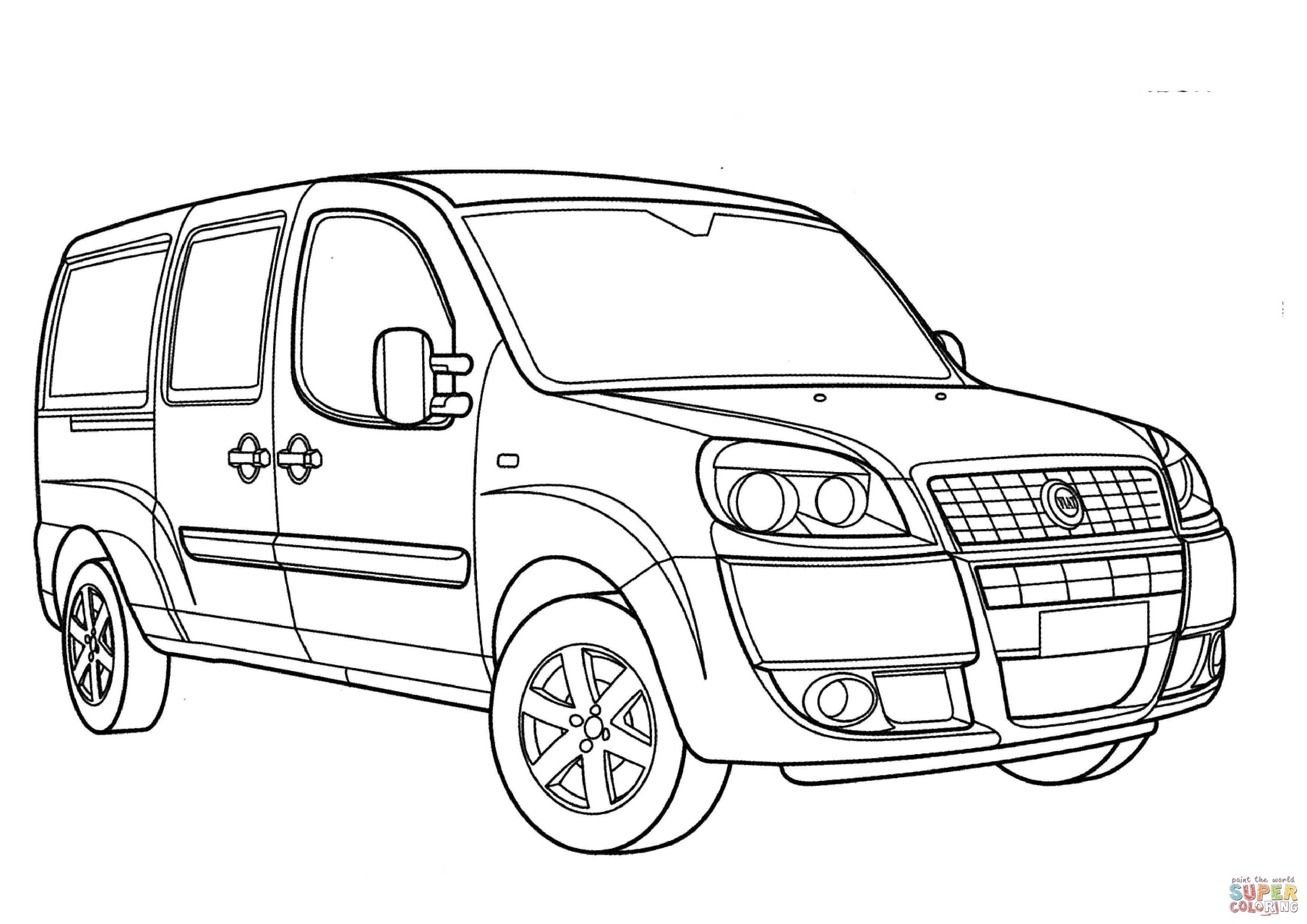 Kolorowanka Fiat Doblo
