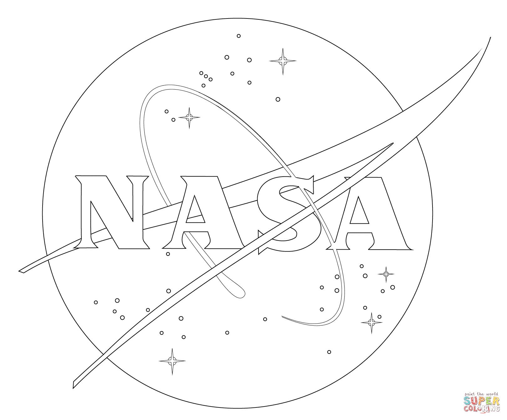 Kolorowanka Logo NASA Kolorowanki Dla Dzieci Do Druku