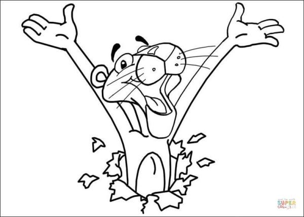 pink panther coloring pages # 10