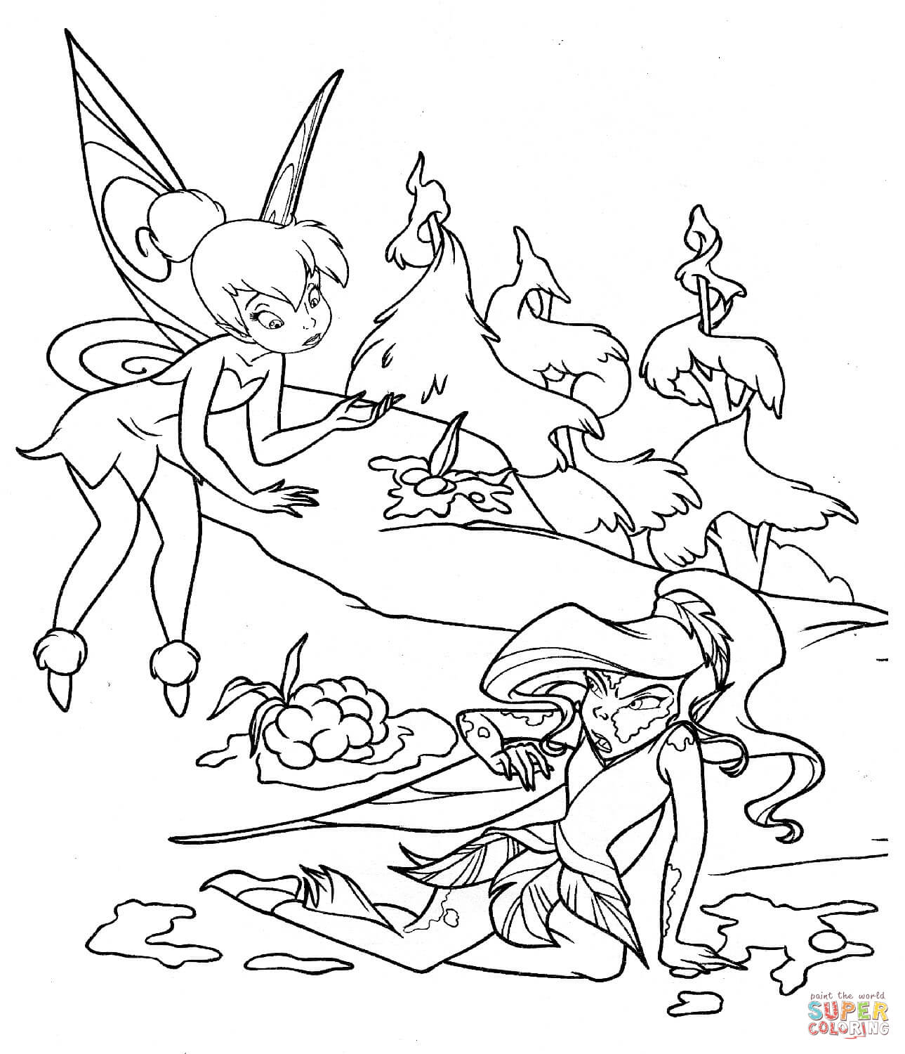 Fairy In Mud Coloring Page