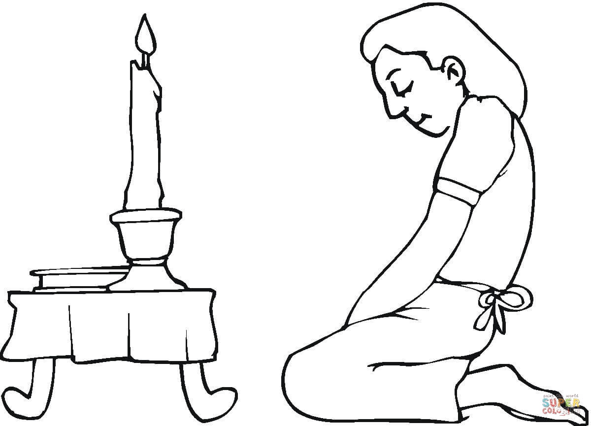 Prayer For Passover Coloring Page