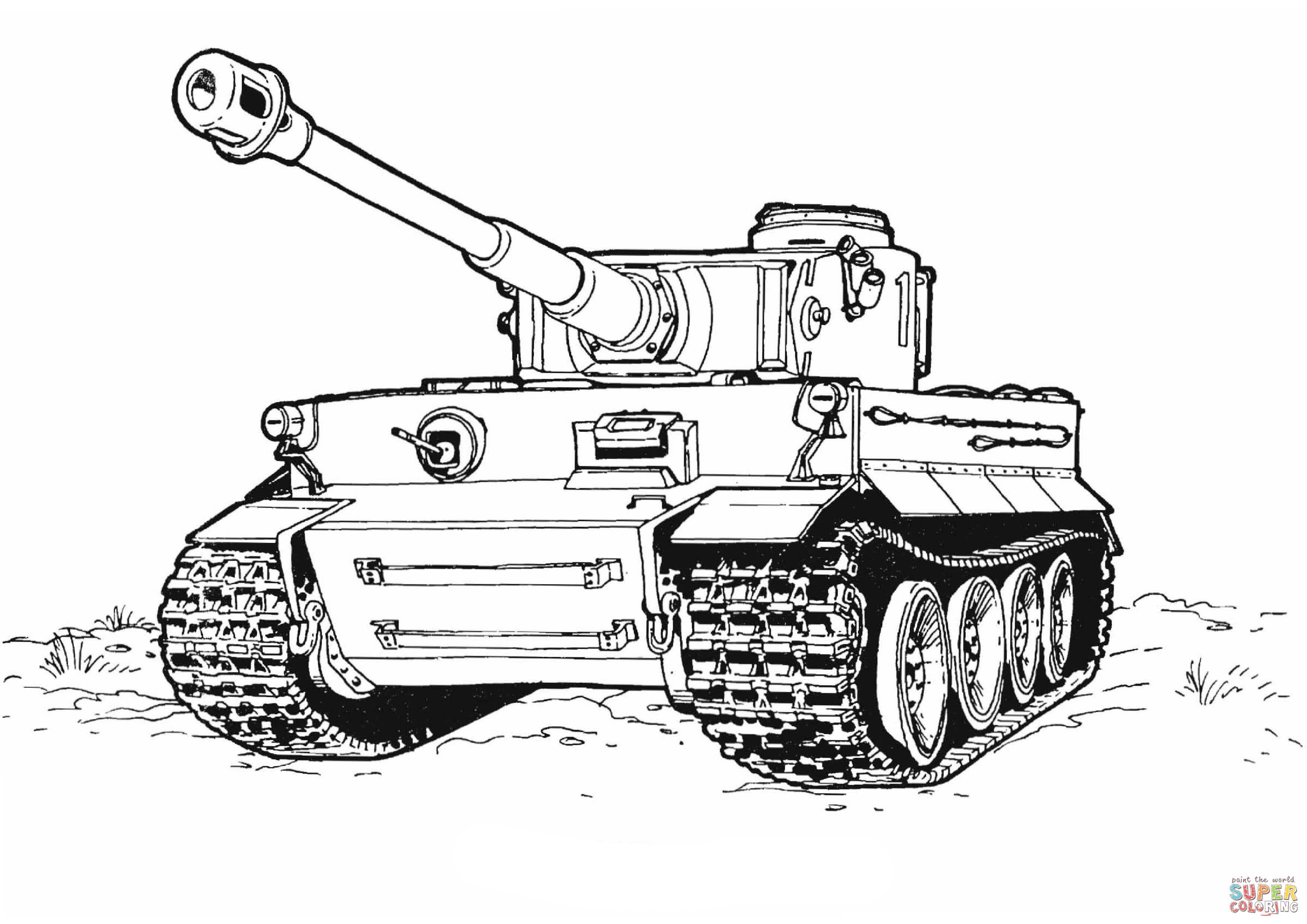 Tiger Tank Coloring Page