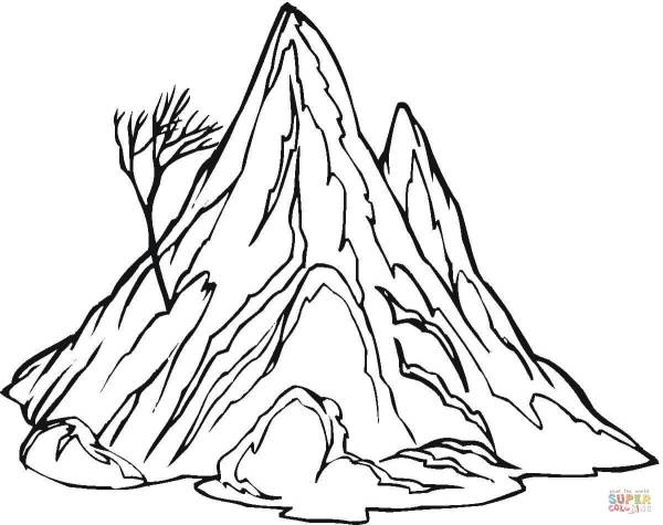 mountain coloring page # 11