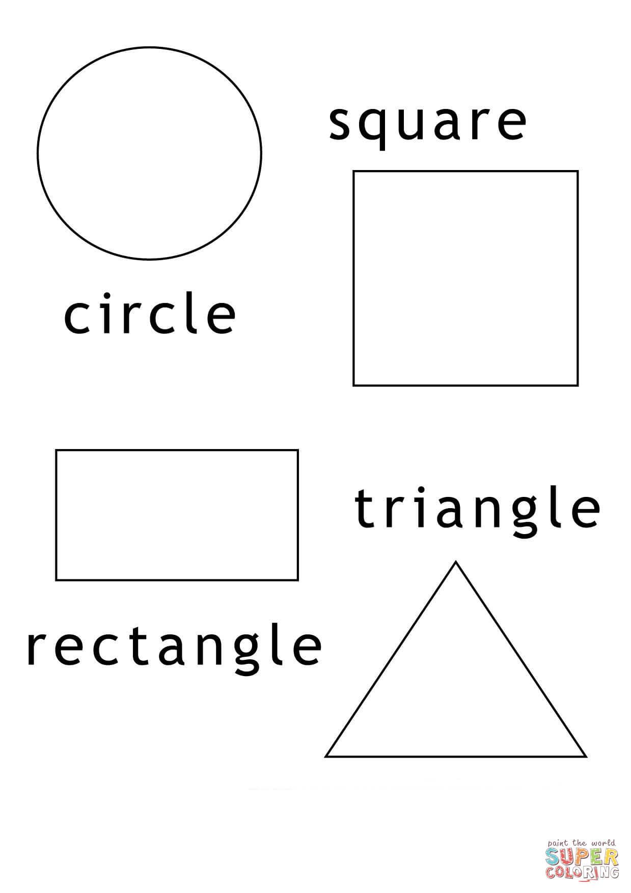 Disegno Di Forme Geometriche Da Colorare