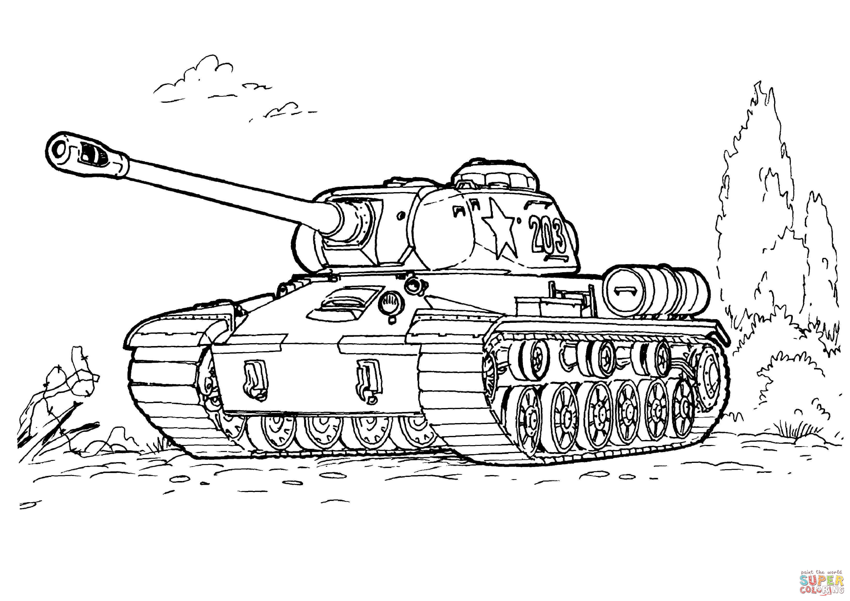 Is 3 Heavy Tank Coloring Page