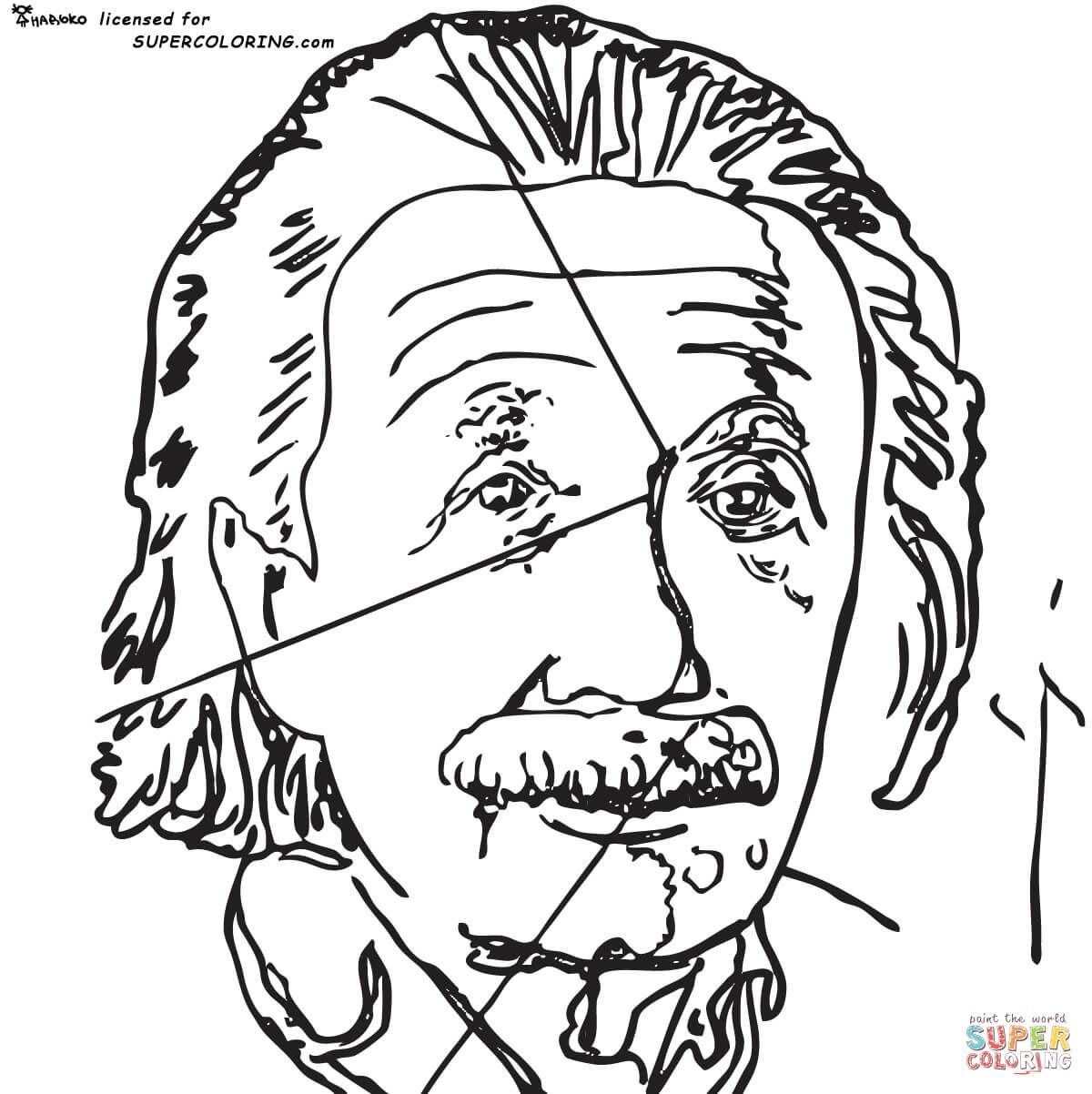Ausmalbild Einstein Von Andy Warhol