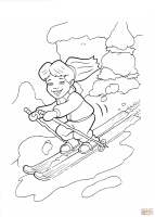 Ausmalbild Emmy auf Skiern   Ausmalbilder kostenlos zum ...