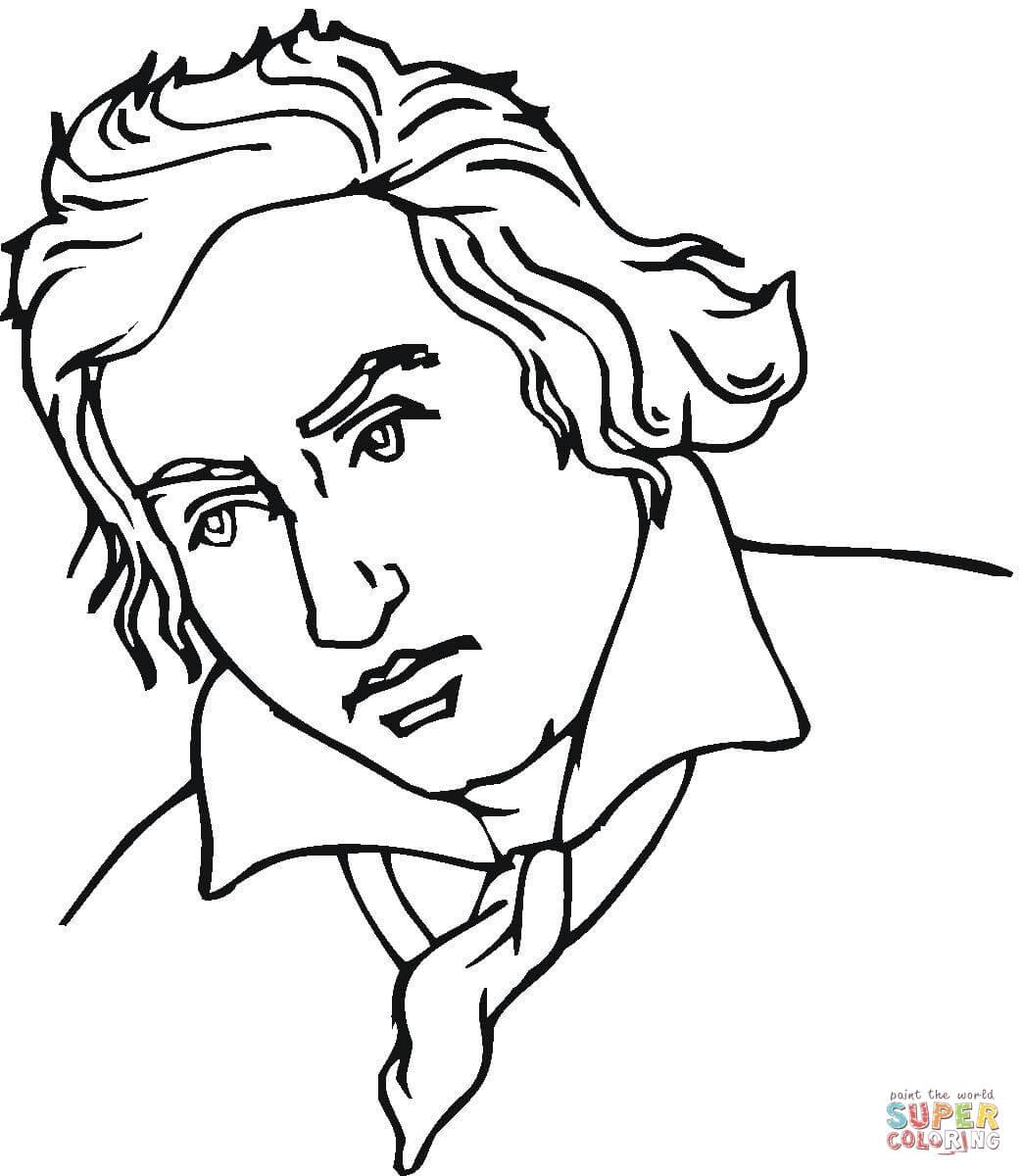 Dibujo De Ludwig Van Beethoven Para Colorear