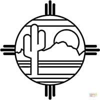 Disegno da colorare sombrero - Cat. 13225. Mexican Desert coloring page  6cca5e60c25f