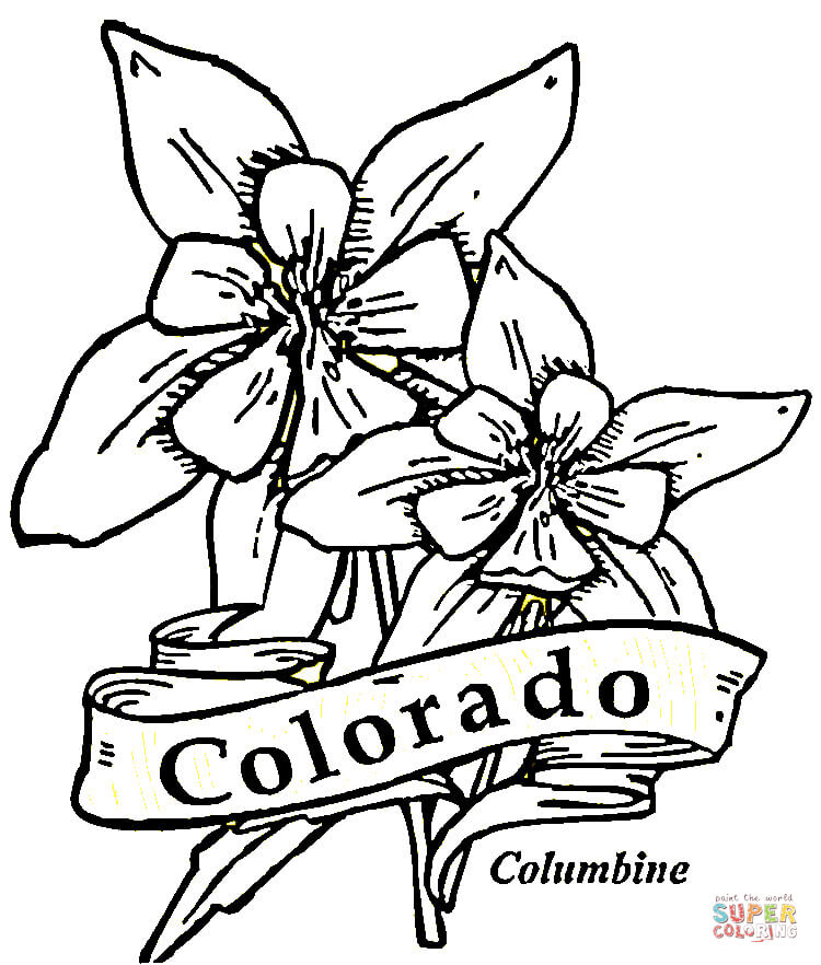 Free Coloring Pages Of Colorado State Map