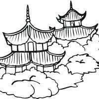 China Wallpaper Coloring Of China For Androids Full Hd Pics Pagodas Page