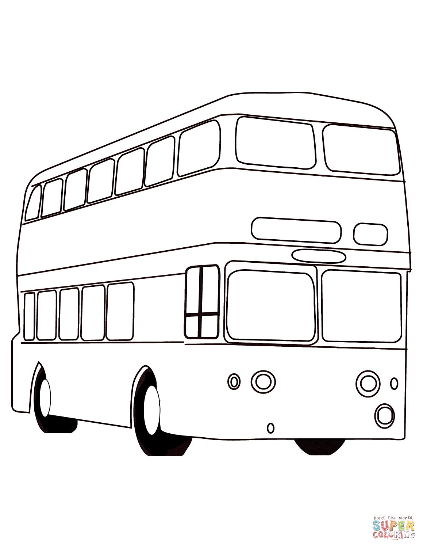 Картинки автобус для срисовки
