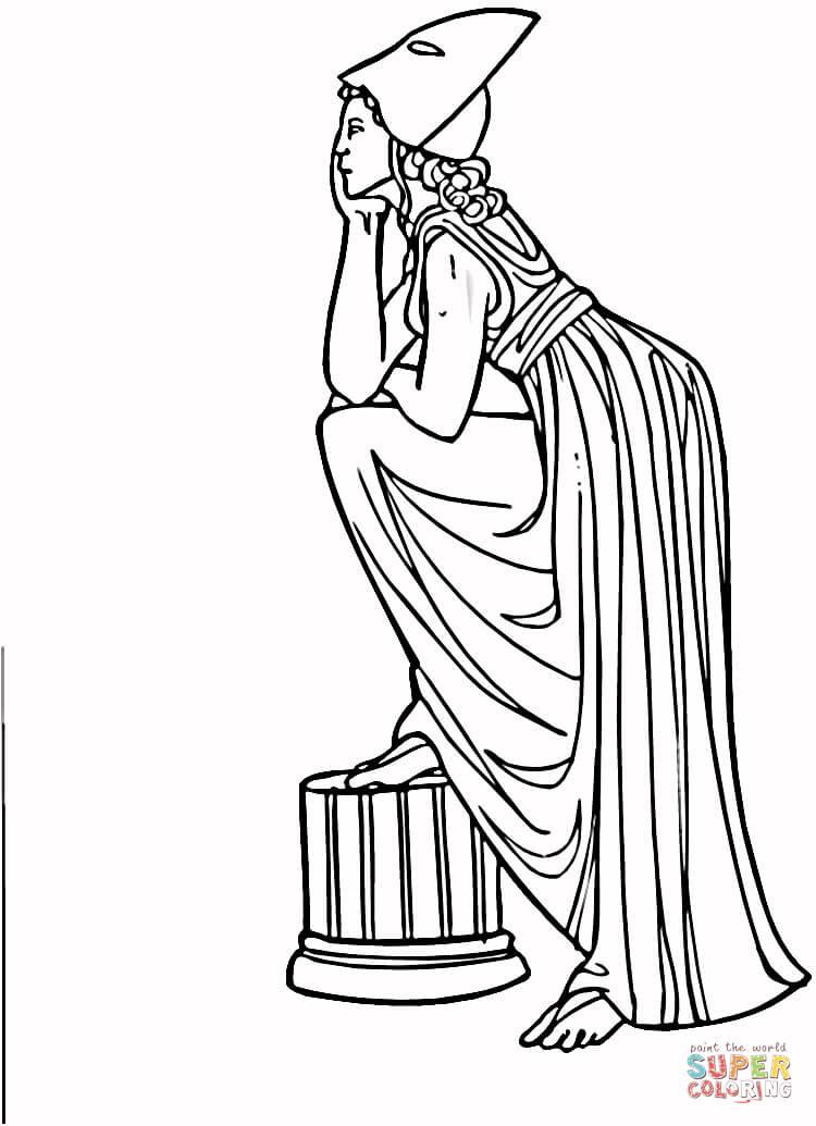 Disegno di Donna della Grecia antica da colorare  Disegni