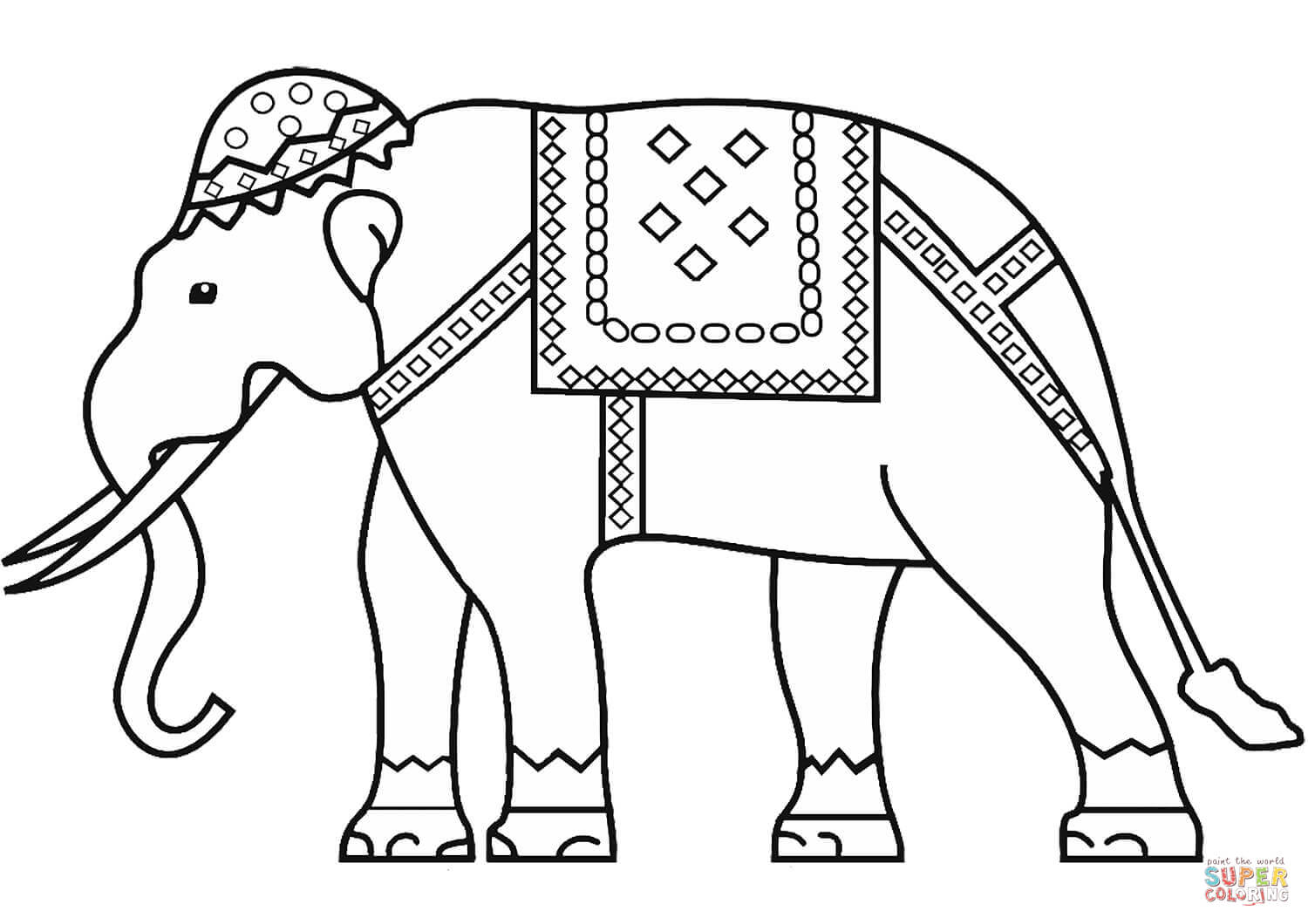 Indian Elephant Coloring Page Free Printable Coloring Pages