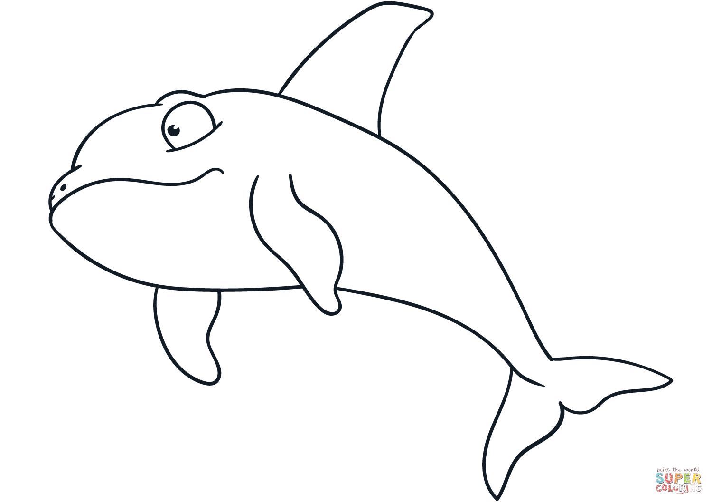 Dibujo De Ballena Asesina Nadando Para Colorear