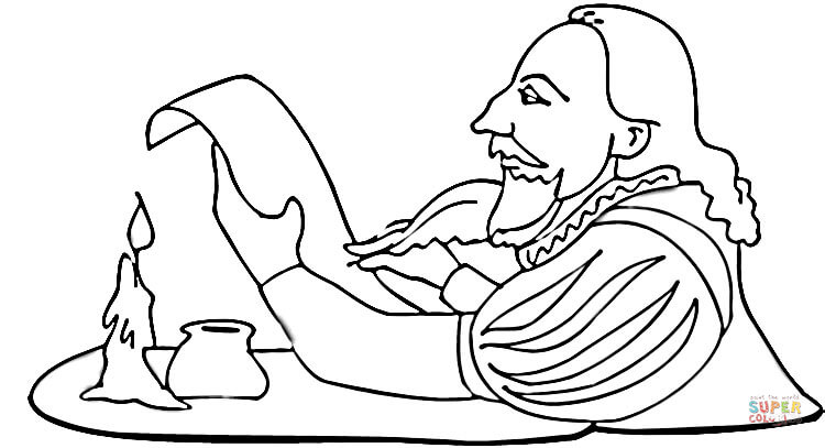 Free William Shakespeare Coloring Pages