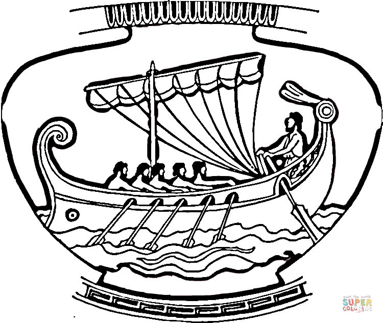 Greek Vase Coloring Page Coloring Pages