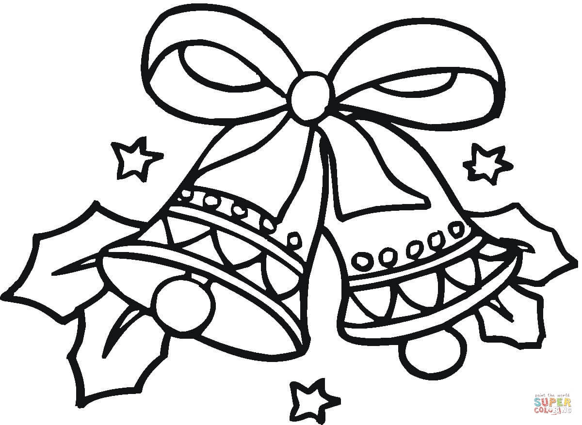 Christmas Bell Coloring Page Coloring Coloring Pages