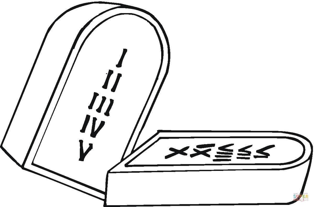 Dibujo de Las Tablas de los Mandamientos para colorear