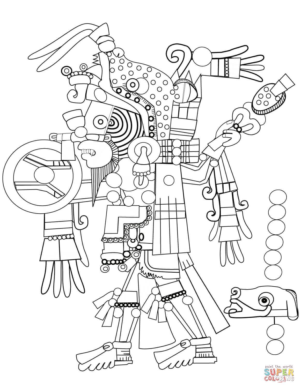 Aztec Art Coloring Page