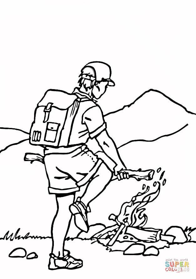 Ausmalbild Ein Lagerfeuer Ausmalbilder kostenlos zum