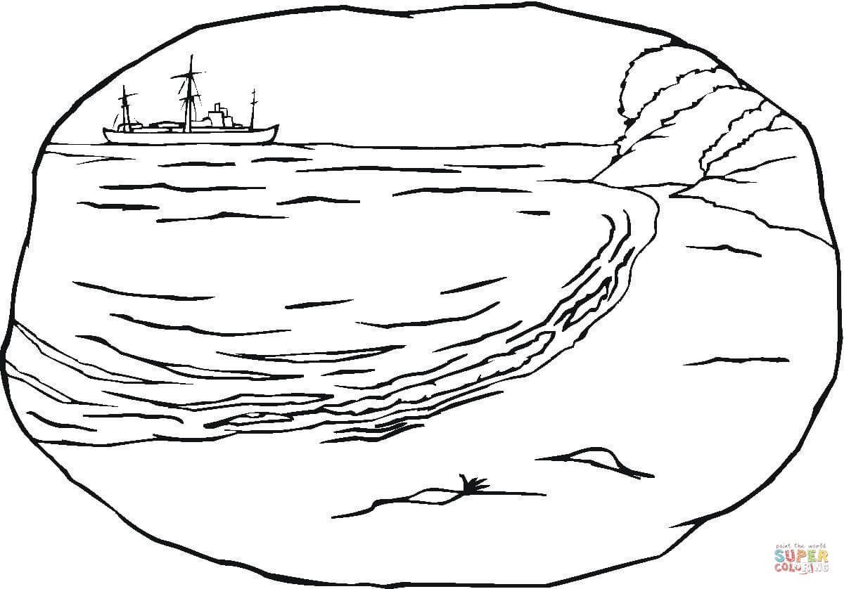 A Sea Shore Coloring Page