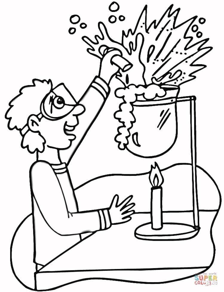 Dibujo De Laboratorio De Qumica Para Colorear