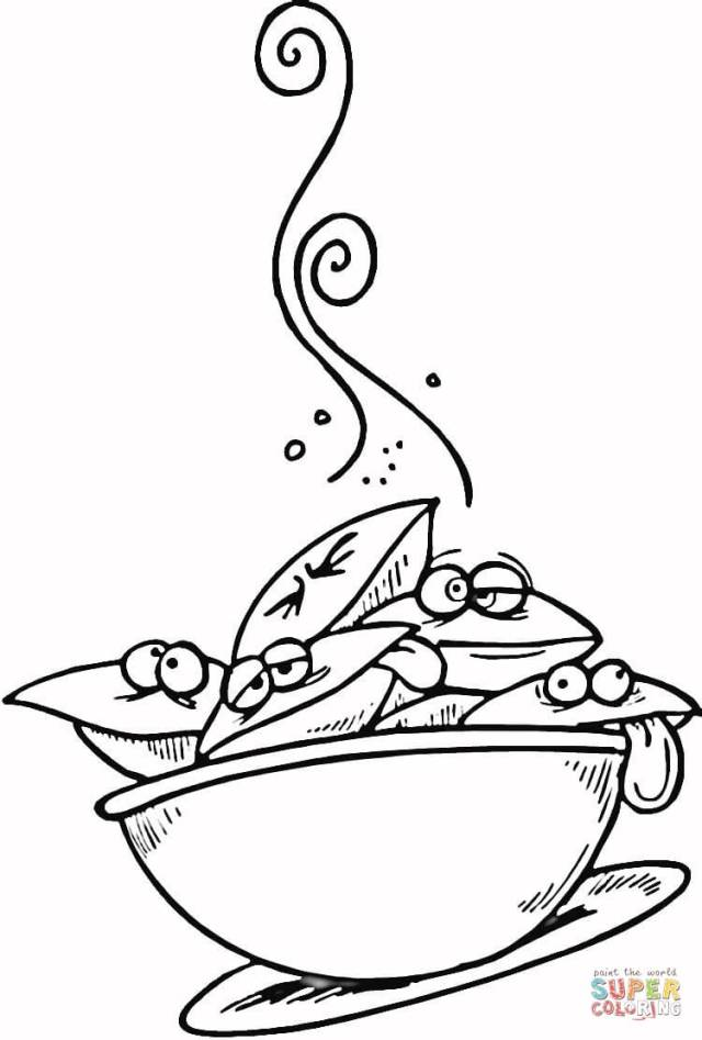 Seafood Chowder coloring page  Free Printable Coloring Pages