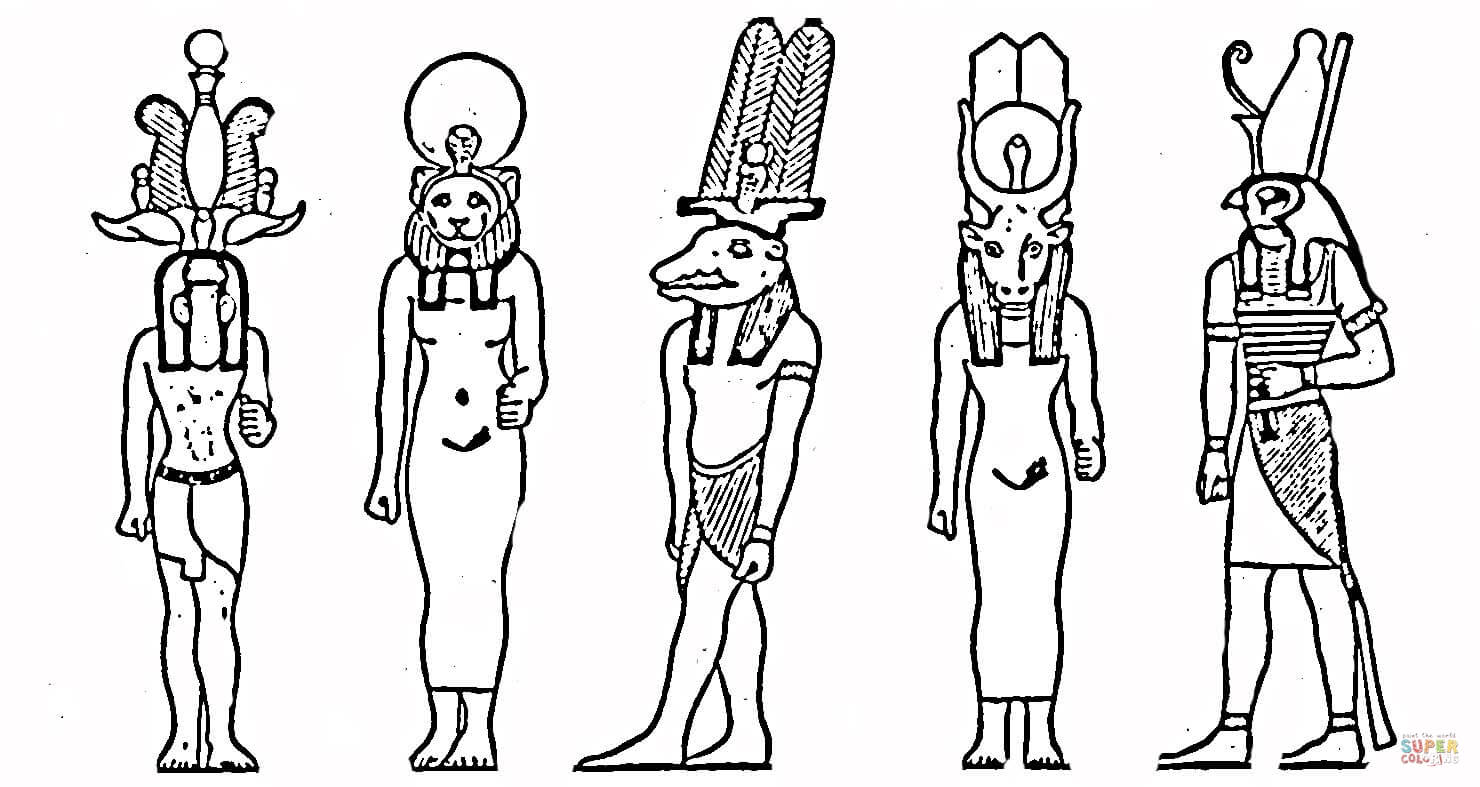 Egyptian Gods Coloring Page