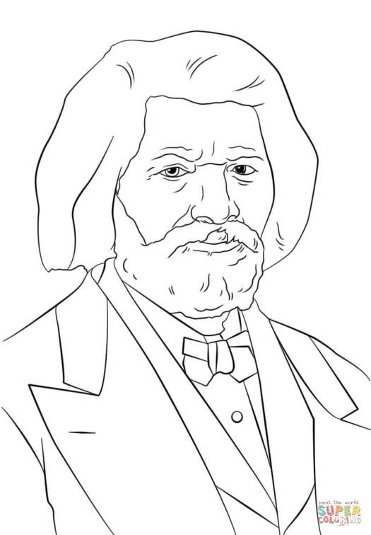 frederick douglass coloring page coloring page cartoon. Black Bedroom Furniture Sets. Home Design Ideas