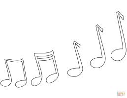 Ausmalbild Musiknoten   Ausmalbilder kostenlos zum ausdrucken