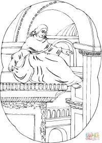 Disegno di Cappella Sistina da colorare