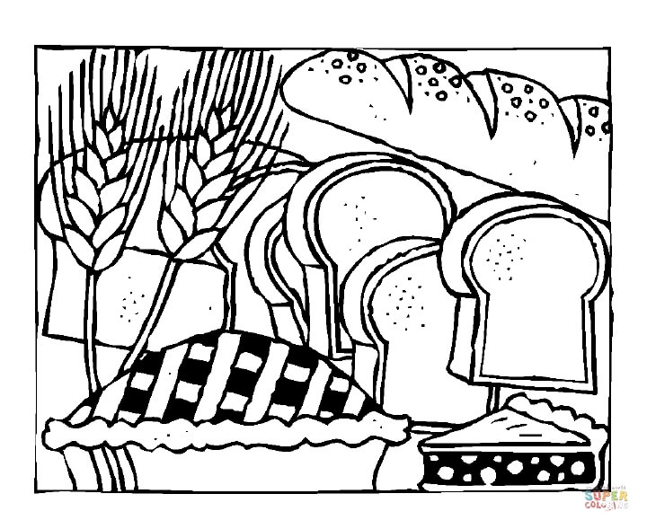 slices of bread coloring page  free printable coloring pages
