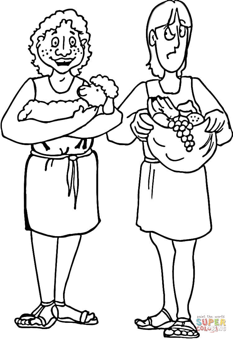 Cain And Abel Coloring Pages Printable Coloring Pages