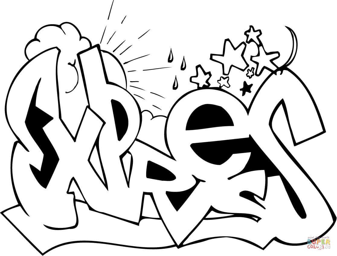 Expres Graffiti Coloring Page
