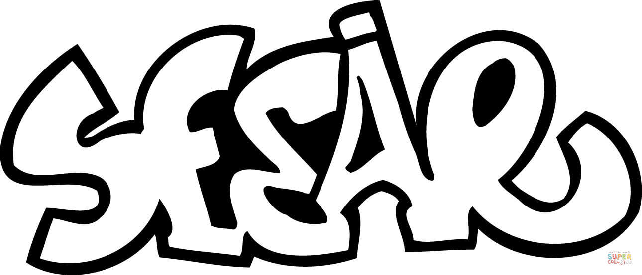 Sesar Graffiti Coloring Page Free Printable Coloring Pages