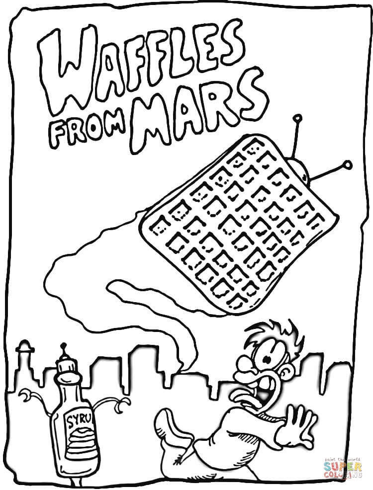 Waffles From Mars Coloring Page Free Printable Coloring