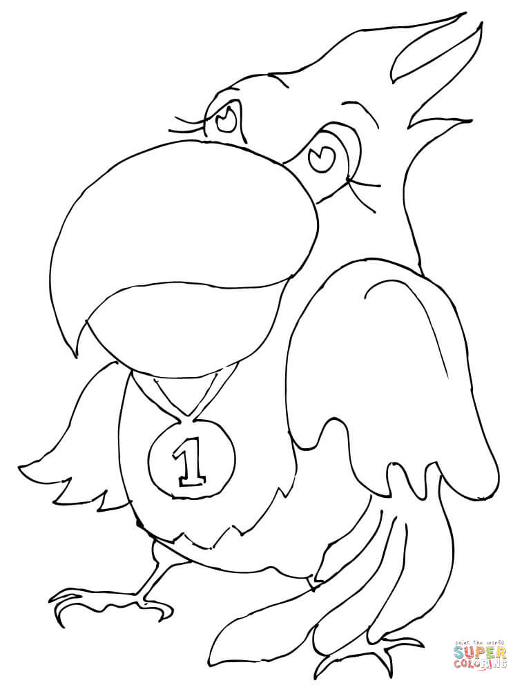 Medal Colouring Pages Sketch Coloring Page