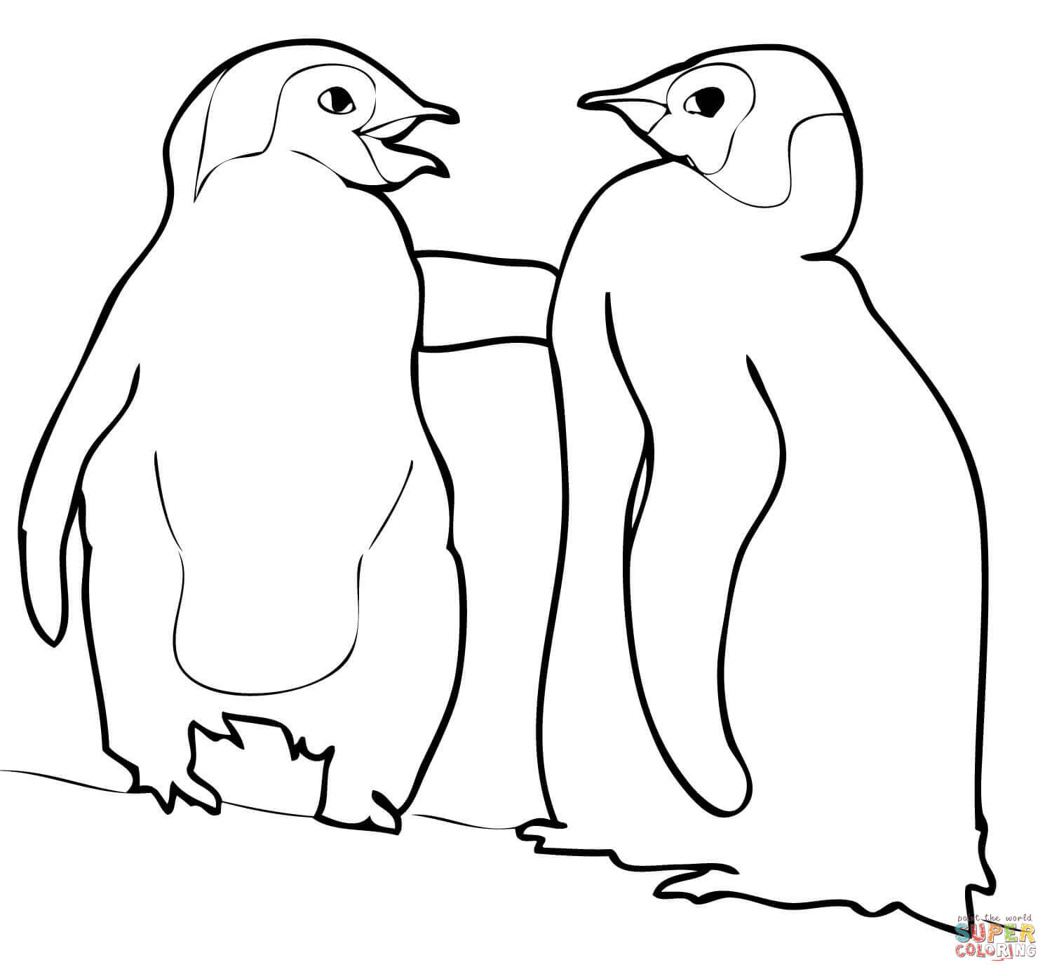 Search Results For Emperor Penguin Coloring Page