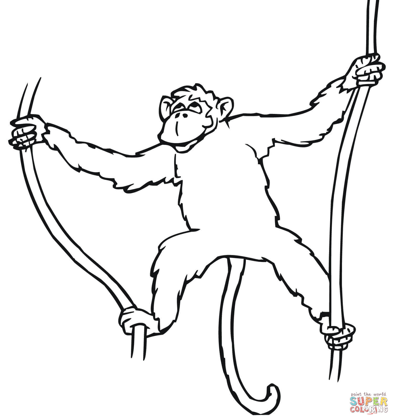 Cartoon Monkeys Coloring Pages Free Coloring Pages