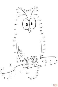 Owl dot to dot | Free Printable Coloring Pages