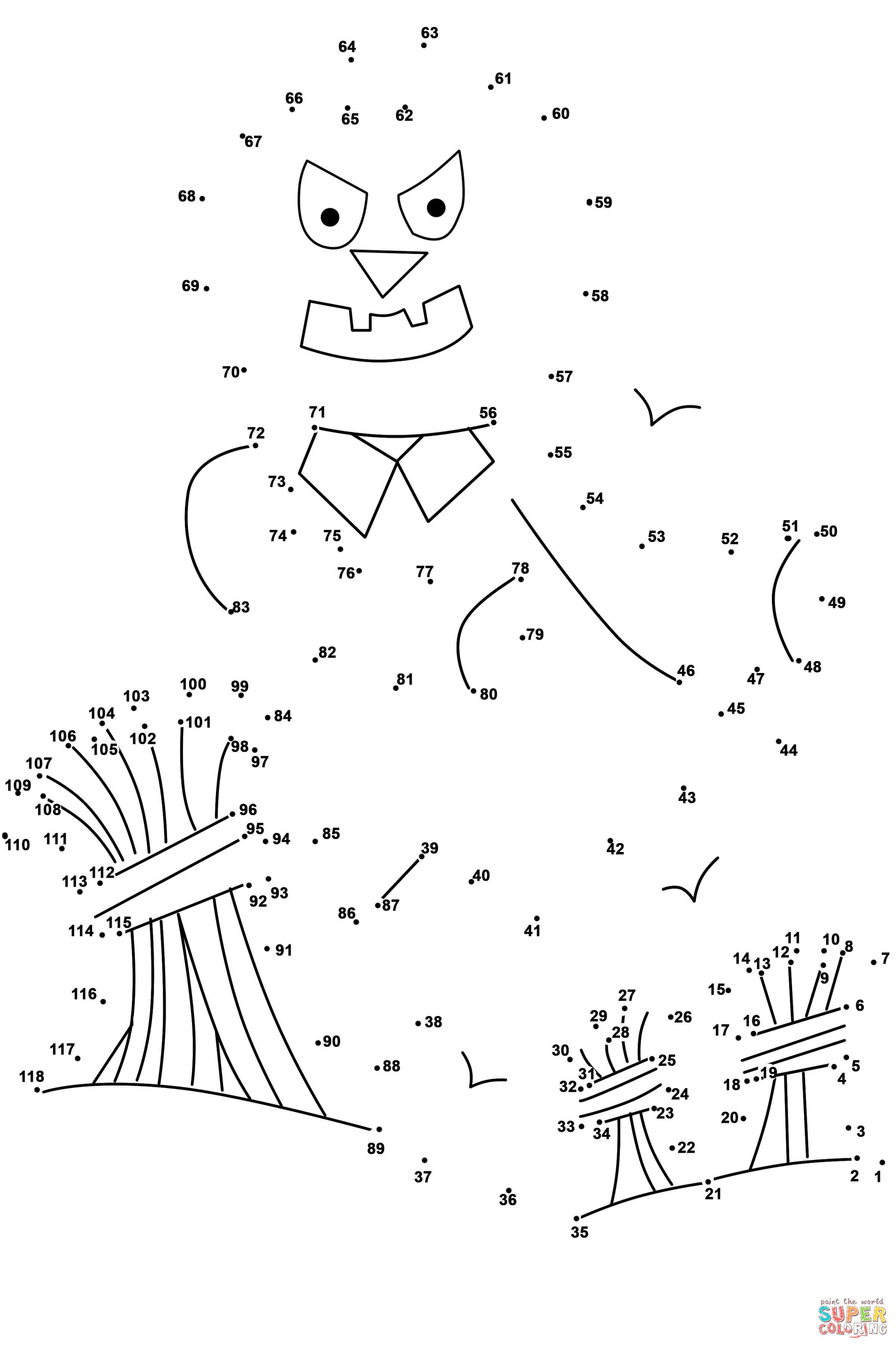 Scarecrow Dot To Dot