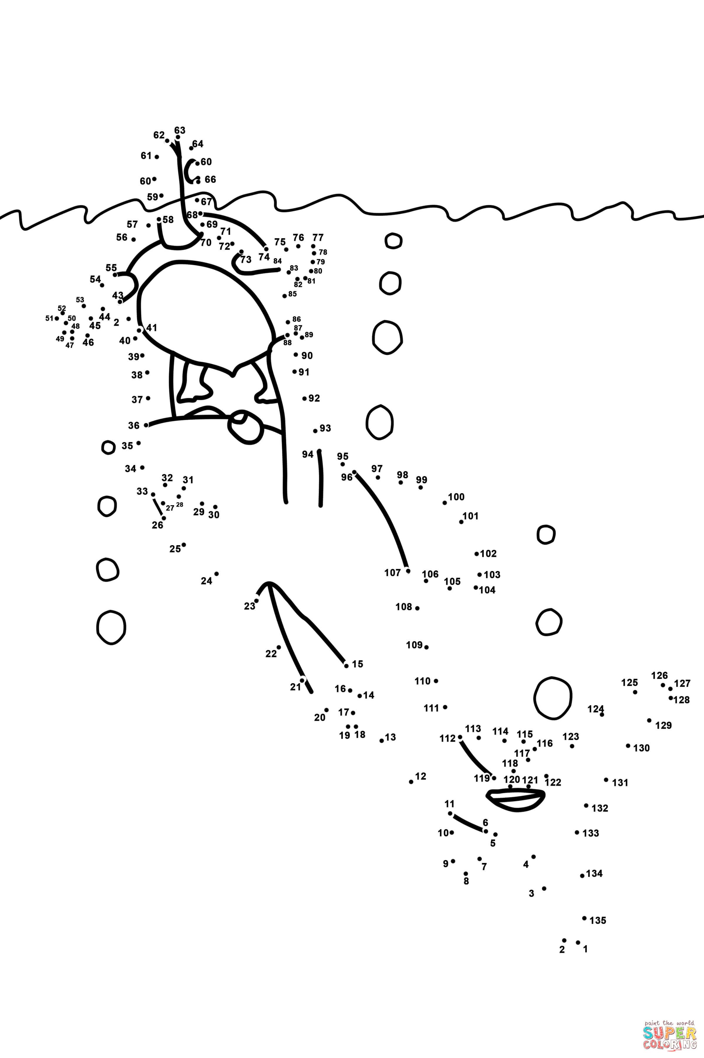 Punkt Zu Punkt Ein Hai Hilft Der Shildkrote