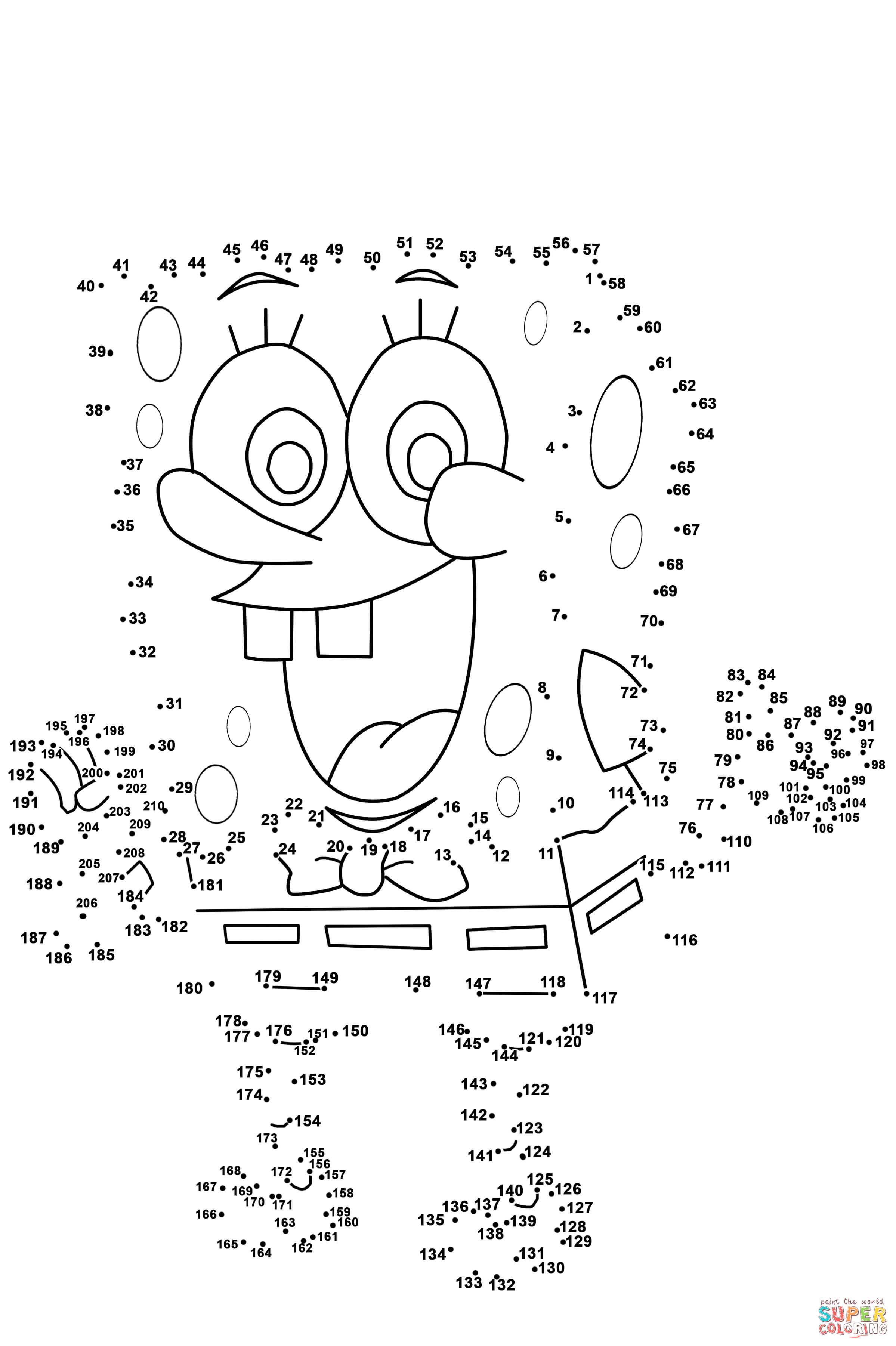 Spongebob Dot To Dot