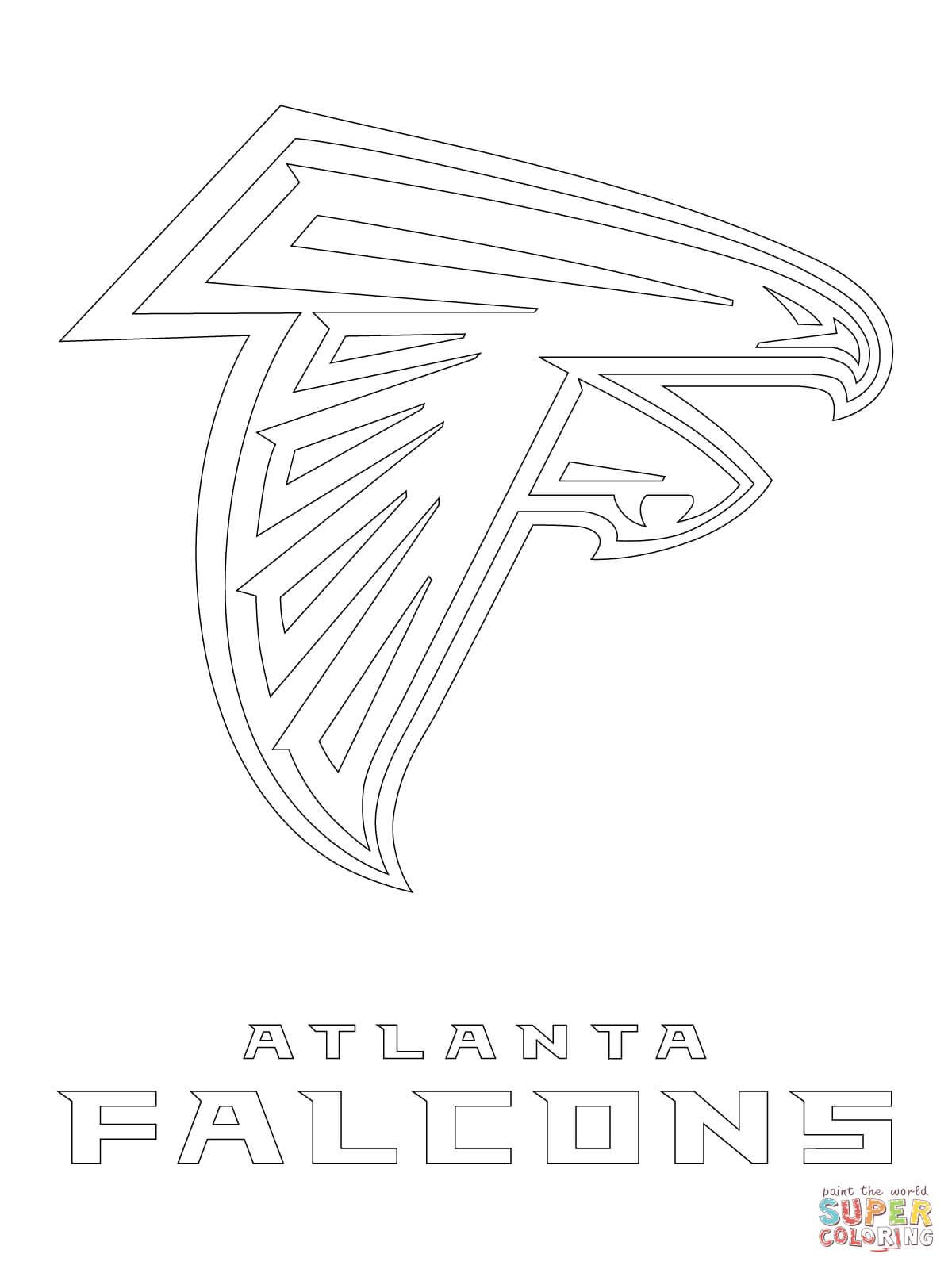 Atlanta Falcons Logo Coloring Page